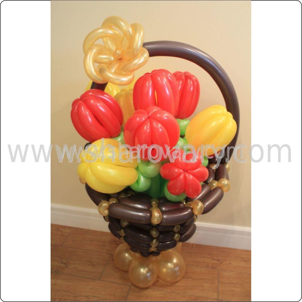 Фото ваза из шариков цветы