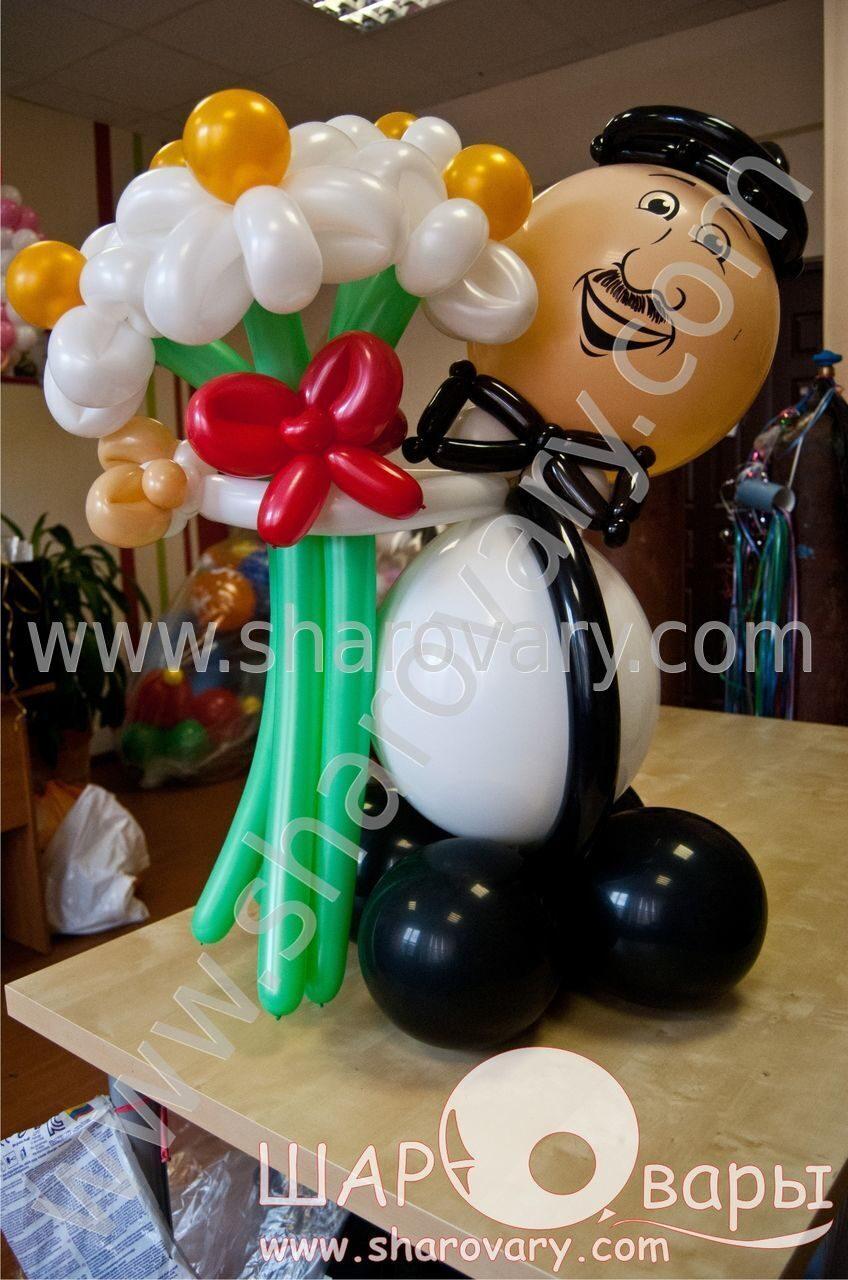 фигура мужчины из шаров своими руками